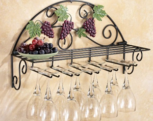 厨房用品展示架 铁艺墙挂展示架