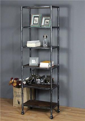 铁木结合家居书柜