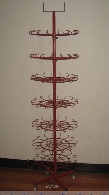 多功能旋转式铁艺资料展示架