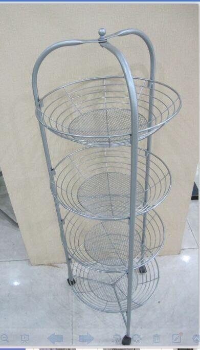 可拆卸折叠式多功能铁艺水果篮