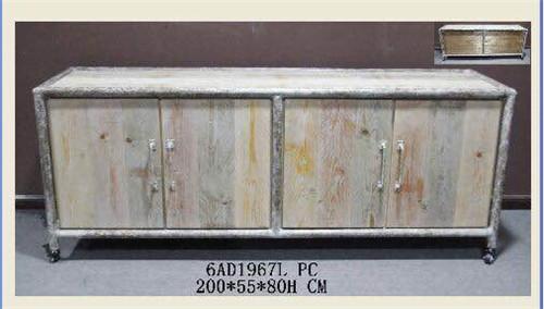 美式乡村风格铁木组合柜