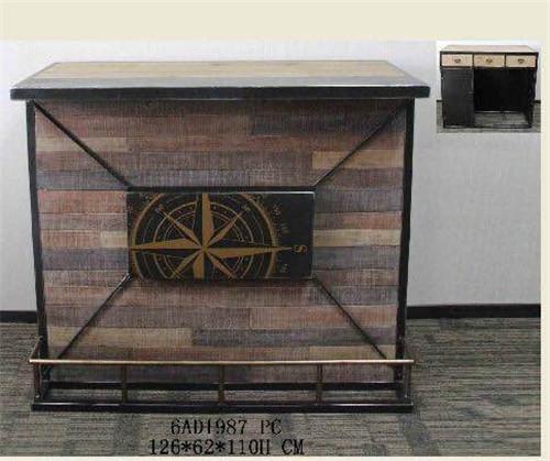 美式乡村风格铁木展示柜