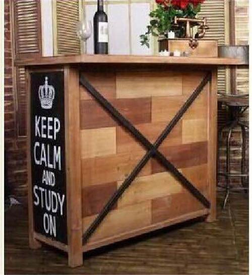美式风格铁木展柜