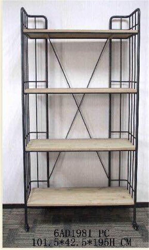 美式乡村风格铁木组合展示柜