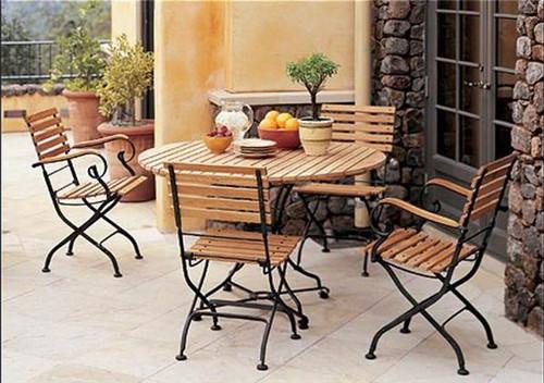 铁木组合桌椅套装