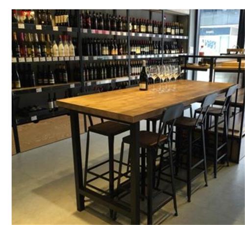 酒吧咖啡厅铁木桌椅定制