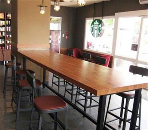 欧式铁木餐厅桌椅组合
