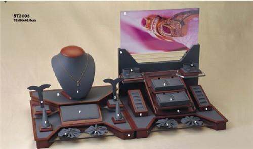 木艺包皮革饰品展示道具套装