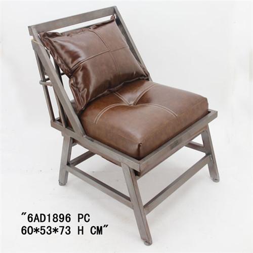 美式复古皮革休闲椅