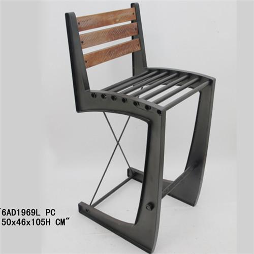 美式铁艺吧台椅