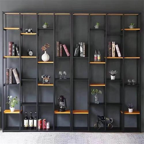 复古铁木组合书架