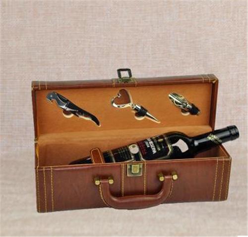 红酒皮盒定制