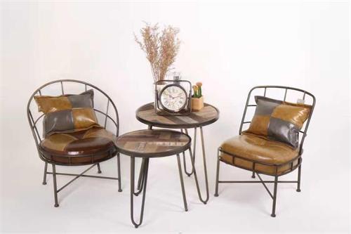 复古铁艺休闲椅