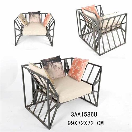 美式铁艺休闲沙发